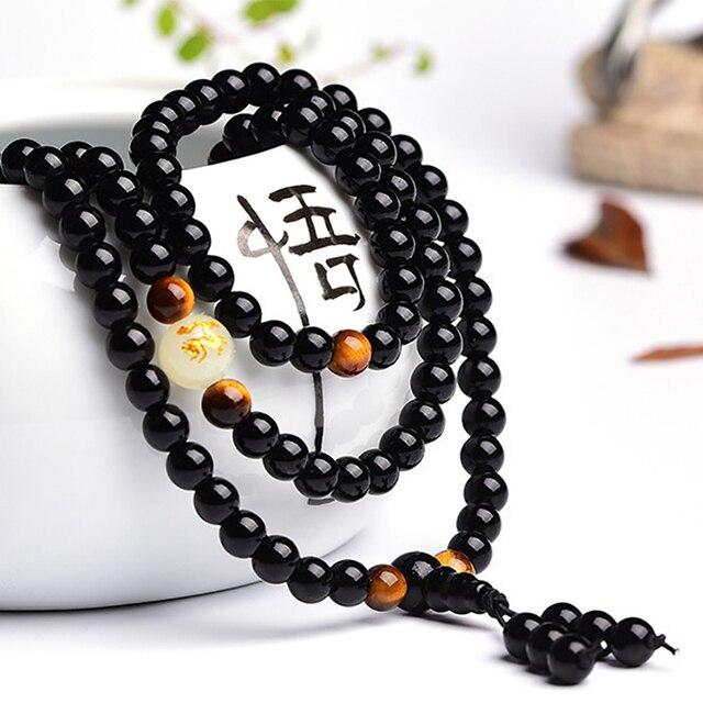 Bracelet Homme Perle Noir