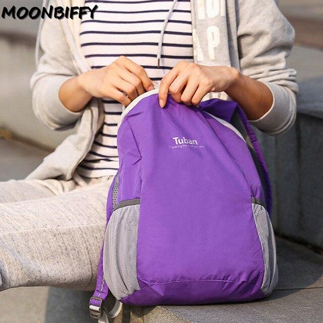TUBAN Lightweight Nylon Foldable Backpack Waterproof Backpack Folding Bag Portable Men Women Backpack for Travel 4