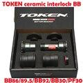 TOKEN INTERLOCK staal/KERAMISCHE lager Draad Fit Trapas voor bb86/bb92/bb30/pf30