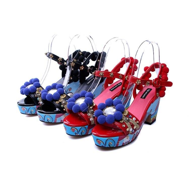 Tacón rojo Sandalias Alto 2018 Mujer {zorssar} Vestido Punta Abierta Zapatos Planas Correa De Negro Verano Fiesta Tobillo UWfUnpqXF