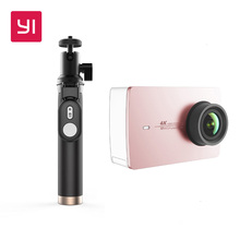 Купить с кэшбэком Yi 4k Action Camera With Bluetooth Selfie Stick Kit Sport Camera Support Live Streaming Rose Gold