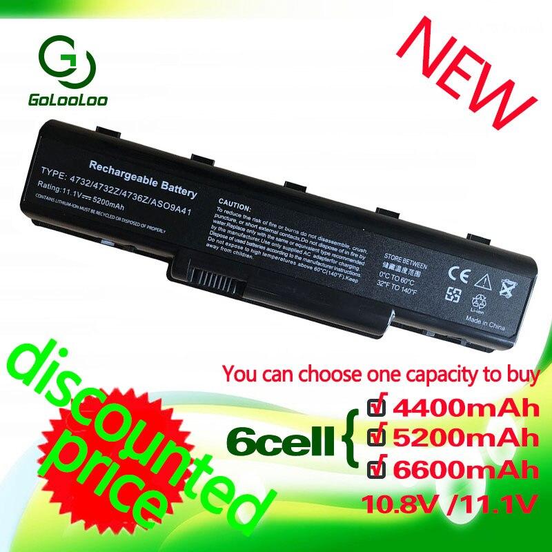 Golooloo 11.1 v batterie D'ordinateur Portable Pour EMACHINE D525 D725 AS09A31 AS09A41 E525 E527 E627 G627 G725 E725 PASSERELLE NV52 NV53 nv58 NOUVELLE