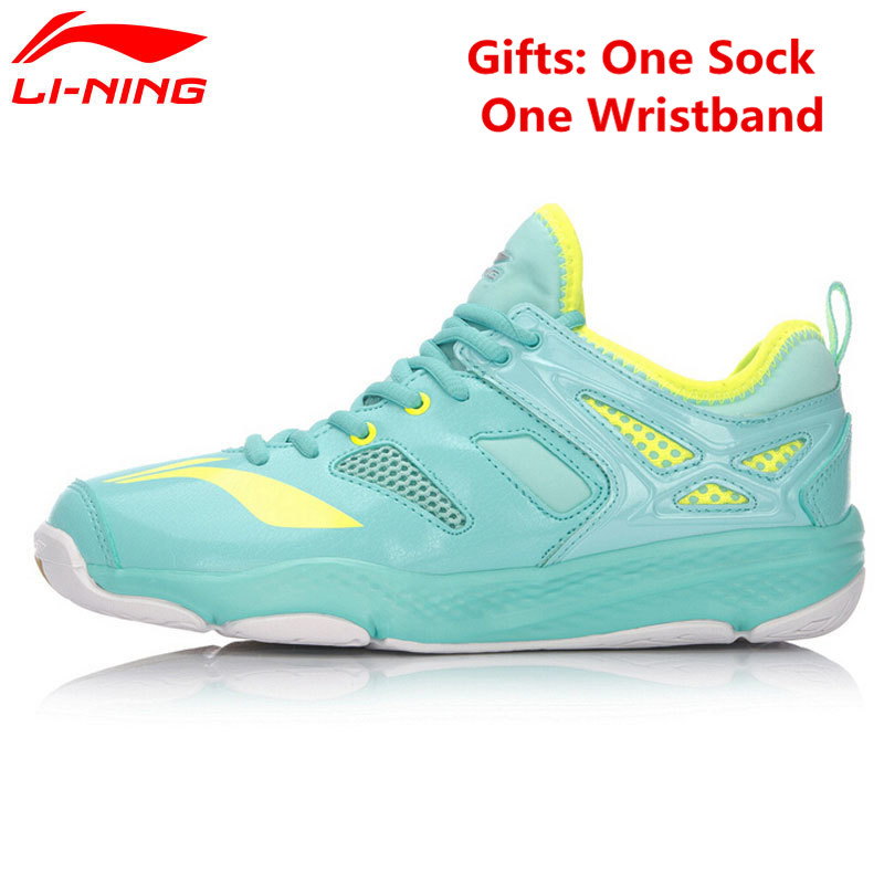 цены Li-Ning Women's Badminton Training Shoes Breathable Anti-slip TUFF RB LiNing Sports Shoes Sneakers AYTM014 L665