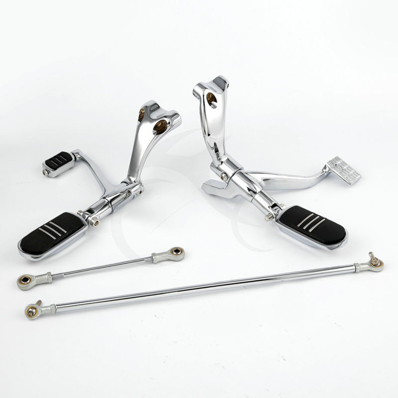 Forward Controls W/ Pegs Linkage For Harley Sportster 883 1200 Forty-Eight Nightster XL Custom 04-13 Roadster 2004-2008 mtsooning timing cover and 1 derby cover for harley davidson xlh 883 sportster 1986 2004 xl 883 sportster custom 1998 2008 883l