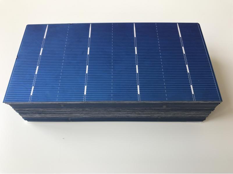 MSL Solar Cell Polycrystalline 156mm 78mm Photovoltaic PV cells 0 5V 2 1W for DIY Solar