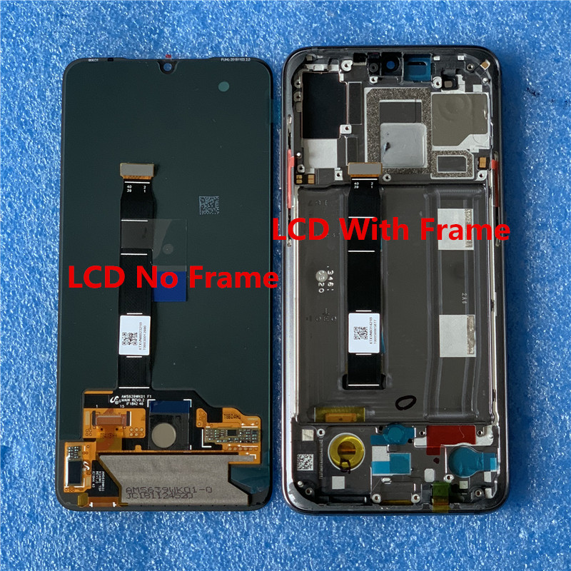 "Image 5 - Original Axisinternational AMOLED LCD Frame For 6.39"" Xiaomi MI9 Mi9 MI 9 LCD Display Screen With Frame+Touch Panel Digitizer-in Mobile Phone LCD Screens from Cellphones & Telecommunications"