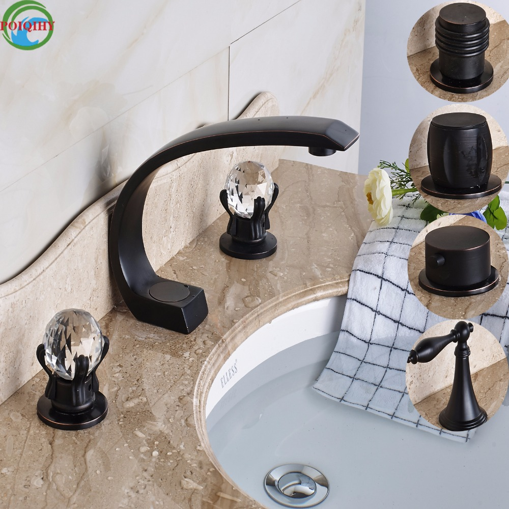 Luxury Multiple Style Widespread Two Handles Bathroom Tub Sink Faucet Basin Mixer Taps Deck Mount 3 Holes luxury deck mount dual handles bathroom brushed nickel basin faucet 3 holes widespread mixer taps