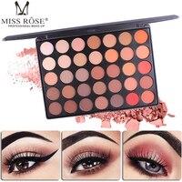 MISS ROSE Brand Pigments Eyeshadow Palette Makeup Shimmer Matte Nude Color Smoky Waterproof Minerals Eye Shadow