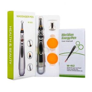 Image 2 - Lápiz láser de acupuntura para masaje corporal, estimulador de acupuntura por láser, lápiz energético para aliviar el dolor