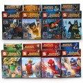 DC Super Heroes 8 unids Figuras de Películas de Superhéroes de Marvel Iron Man Batman Minifig Mini Bloques Juguetes Lepin Compatible legoINGlys SY180