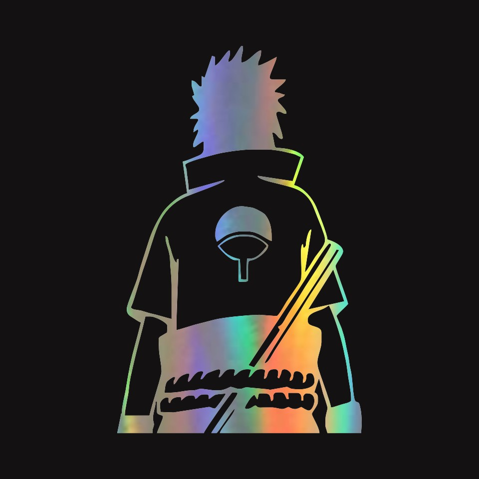Anycuros naruto sasuke uchiha anime fashion stickers decals vinyl 10 9cm17 1cm