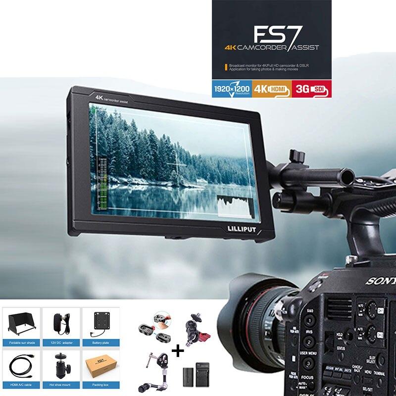 Lilliput FS7 HD 1920x1200 3g SDI 4 k HDMI in/out caméra Vidéo 7 pouce Domaine moniteur pour Canon Nikon Sony Zhiyun Cardan lisse 4