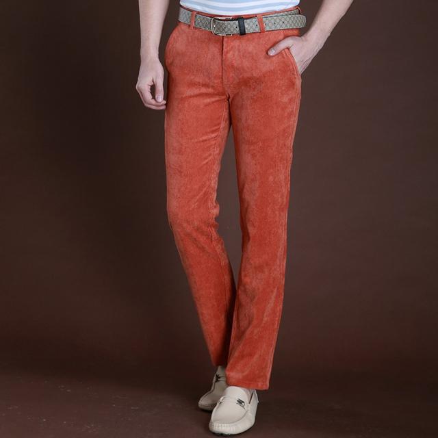 5 nuevo otoño y el invierno de alta gama de los hombres pantalones casuales simples pantalones de pana de algodón trajes pantalones de Negocio de hierro