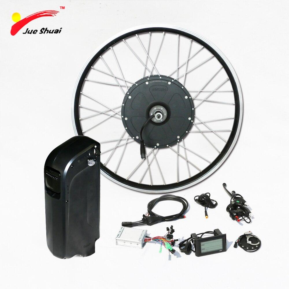1000w Electric Bike Conversion Kit with 48V Battery Brushless Gear Hub Motor Wheel for 26 700C E Bike Powerful Electric Bike