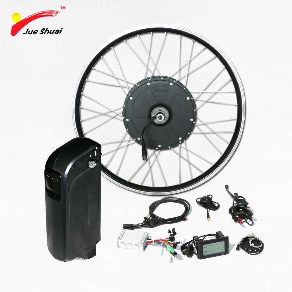 "1000w Electric Bike Conversion Kit with 48V Battery Brushless Gear Hub Motor Wheel for 26"" 700C E Bike Powerful Electric Bike"