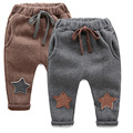 1-5yrs Boys Winter stars pattern pants New 2016 Kid pants warm Cashmere Children Trousers for baby Boys harems pants