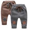 1-5yrs Chicos Invierno estrellas patrón pantalones Nuevos 2016 Niños pantalones de Cachemir cálido Pantalones de Los Niños para Niños bebés pantalones harén