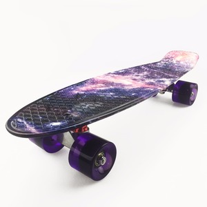 "Image 3 - 22 inch Kids Mini Fish Skateboard Purple color mixed universal Plastic Cruiser Board Completes Nologo 22"" Banana Skateboard"