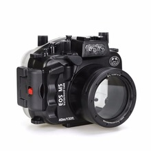 Seafrogs 40m/130ft Waterproof Underwater Camera Housing Case for Canon EOS M5 22mm meikon 40m 130ft underwater camera housing for canon eos m5 18 55mm waterproof camera bags case for canon eos m5 18 55mm