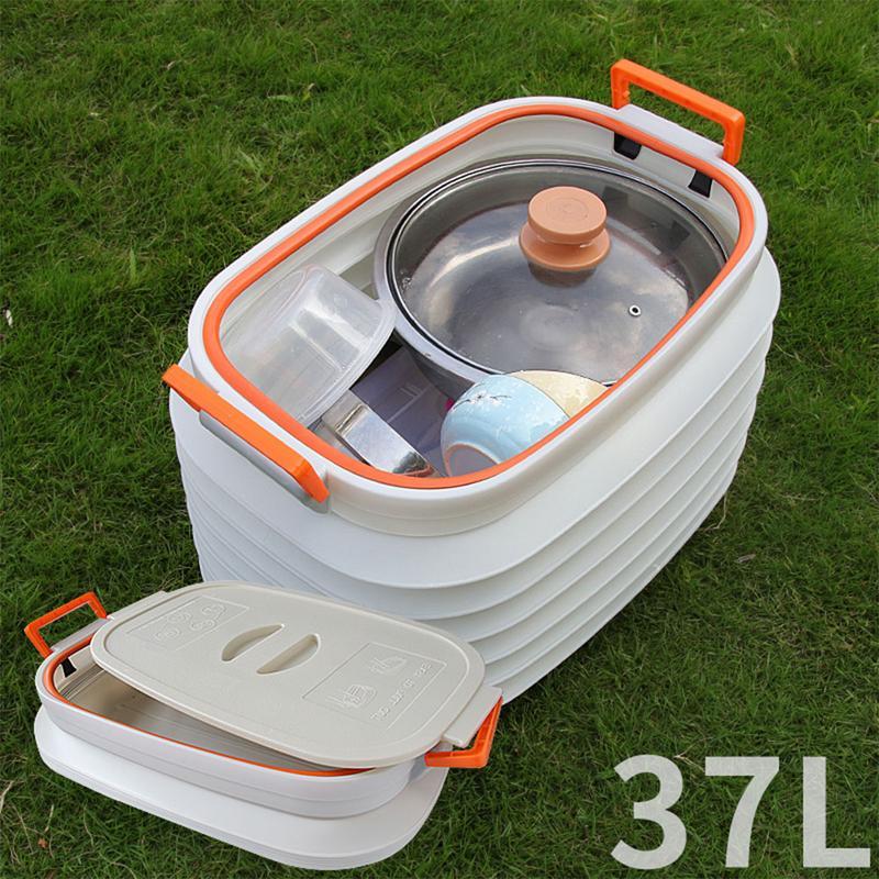 37L boîte de rangement voiture boîte de rangement télescopique boîte télescopique pliante seau de pêche voiture cadeau pour père