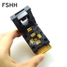TEST CHIP PROGRAMMER SOCKET TQFP44-DIP40 QFP44 TO DIP40 adapter socket high-quality flip two layers PCB pmd100 dip40