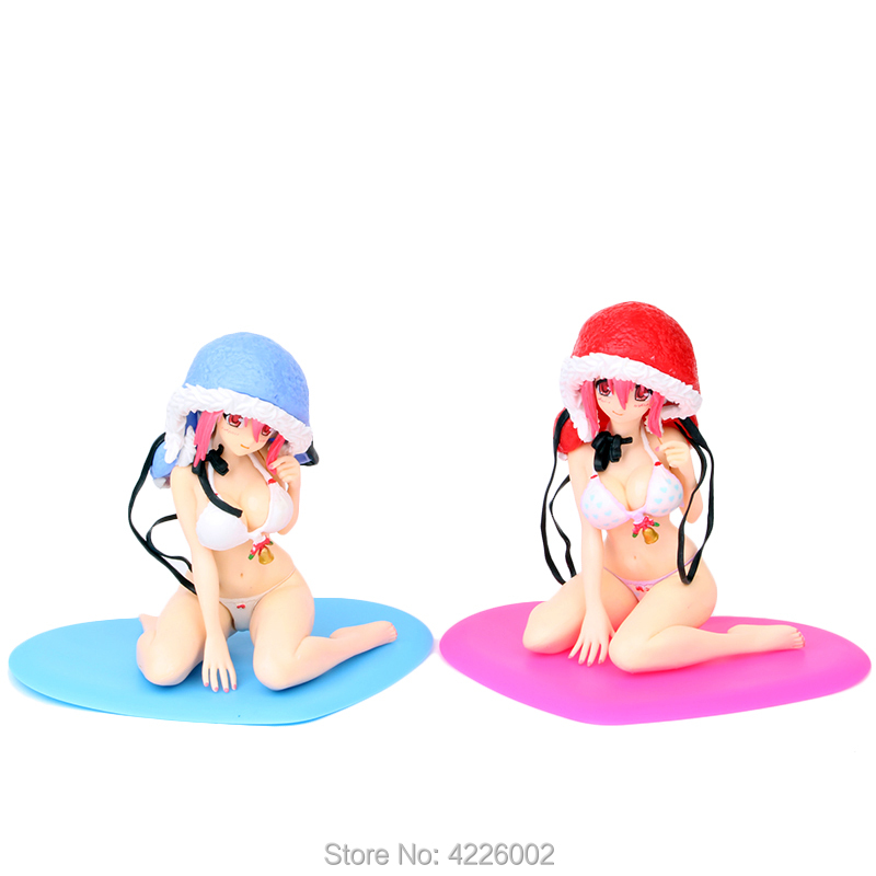 Super Sonico Sexy Bikini Girl PVC Action Figure Vocaloid Anime Collectible Doll Model Kids Toys For Children Christmas Gift 12cm in Action Toy Figures from Toys Hobbies