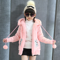 Thick Style Girls Winter Coats Hooded Casual Cartoon Kids Jackets for Girls 3 4 5 6 7 8 9 10 11 12 Year Children Outerwear