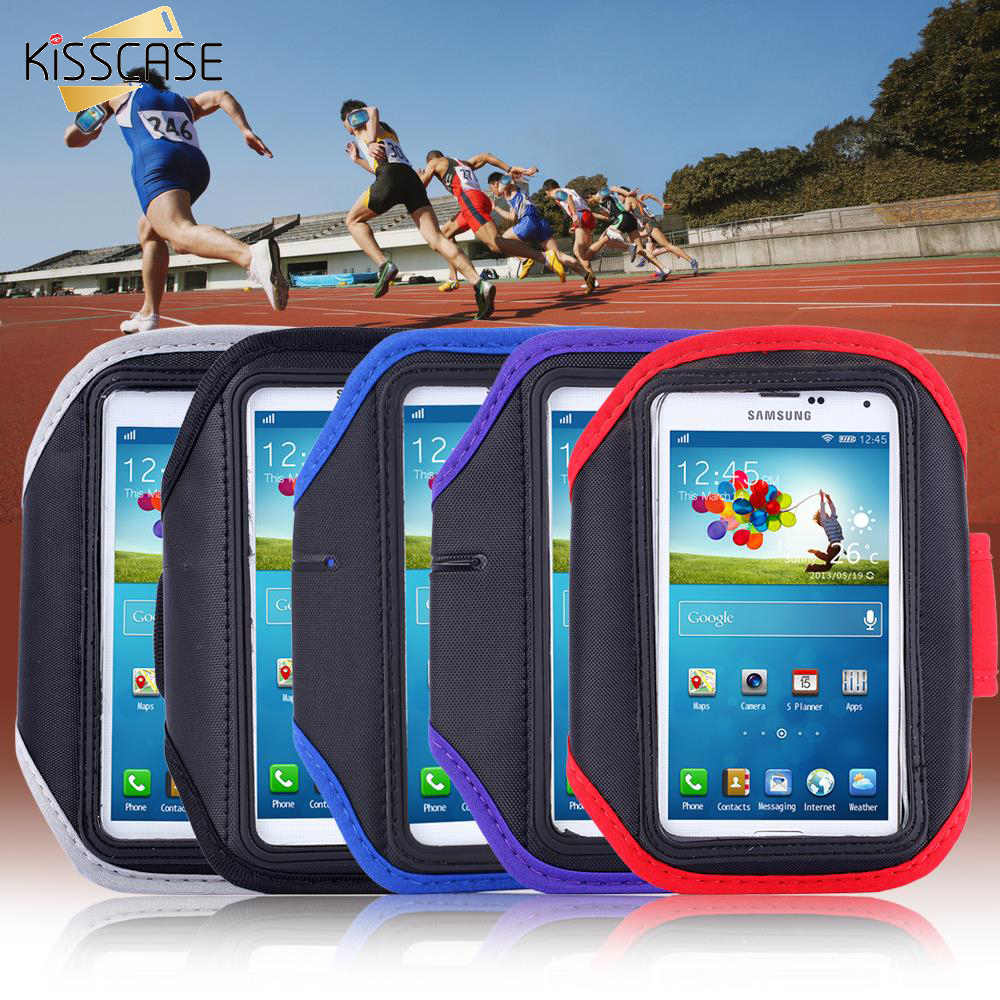 KISSCASE S4 Workout Armband Holder Pouch Belt Cover For Samsung Galaxy S3 S4 S5 Cell Mobile Phone Sports Running Arm band
