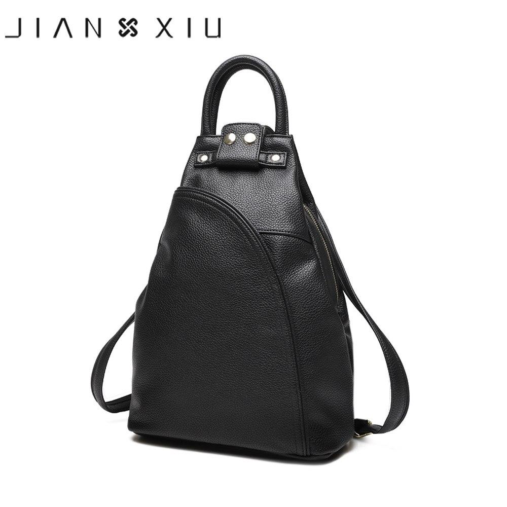 JIANXIU Women Pu Leather Backpack School Bags Mochilas Bolsas Mochila Feminina Mujer Bagpack Multi functional Escolar