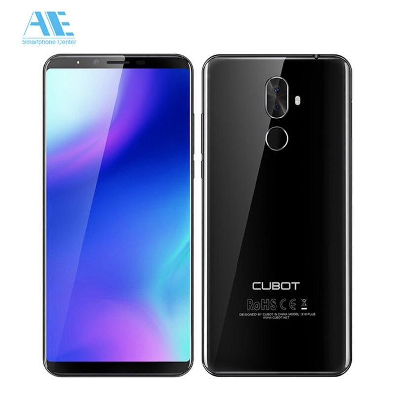 Cubot X18 плюс 18:9 FHD + 5,99 дюймов 4G B 6 4G B Android 8,0 MT6750T 8-ядерный смартфон 20MP + 2MP камеры заднего 4000 мАч 4G Celular