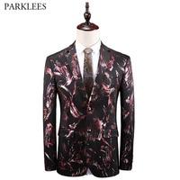 Luxury Bronzing Velvet Tuxedo Blazer Men Brand Slim Fit Nightclub Suit Jacket Blazers Men Wedding Party Prom Blazer Hombre 5XL
