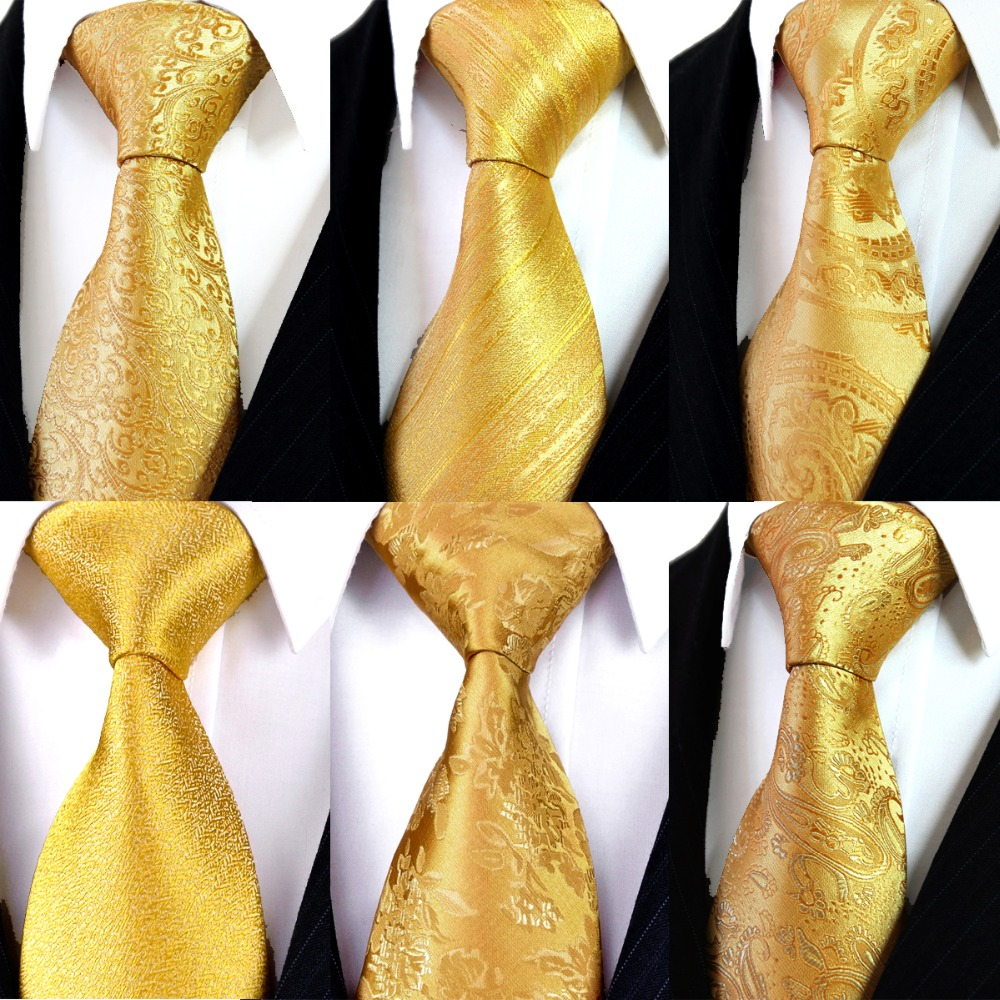 Solid Floral Paisley Yellow Gold Mens s