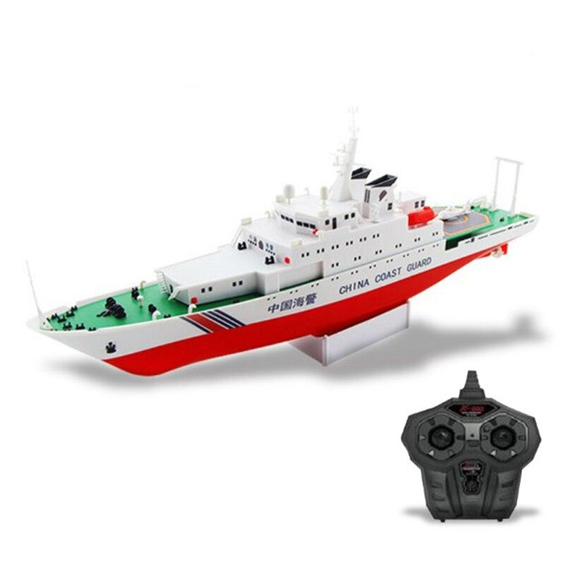 Freies verschiffen China Küstenwache Schiff 2,4G Elektrische Fernbedienung Schiffsmodell Navy Schlacht Schiff Dual Propeller DIY boot spielzeug geschenk