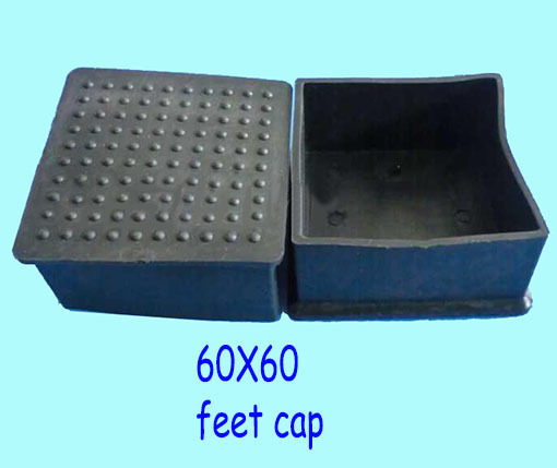 60 60mm Tube Cap Pads 2 3 8 Inch Square Pile Pole Pipe