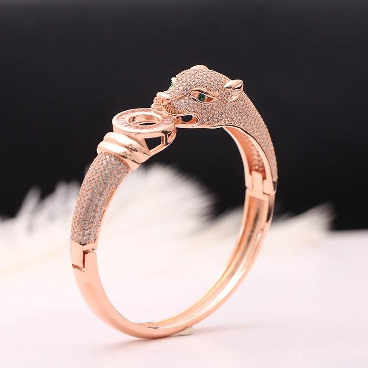 Bijoux de marque de luxe exquis bracelet léopard mode dominateur or et argent bracelet femme cadeau-in Bracelets from Bijoux et Accessoires    2