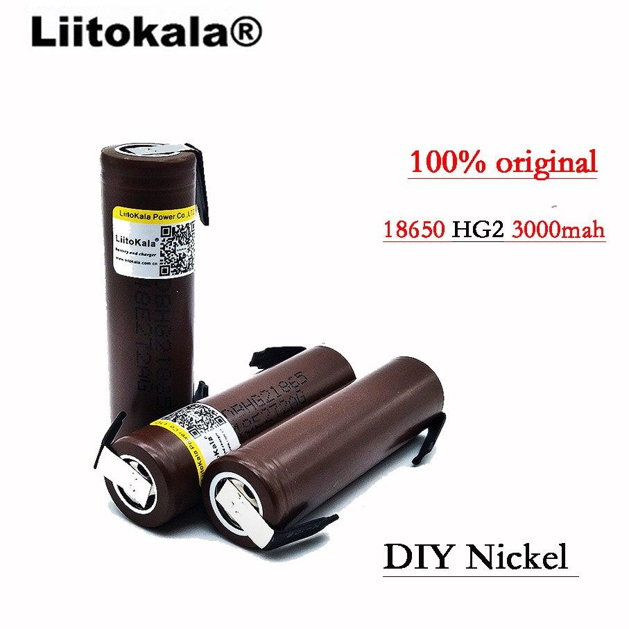 Image 4 - 2019 8 個 100% オリジナル HG2 18650 3000 バッテリー 18650 HG2 3.6 V 放電 30A 、電子タバコのための専用電池 + DIY Nicke -    グループ上の 家電製品 からの 充電池 の中