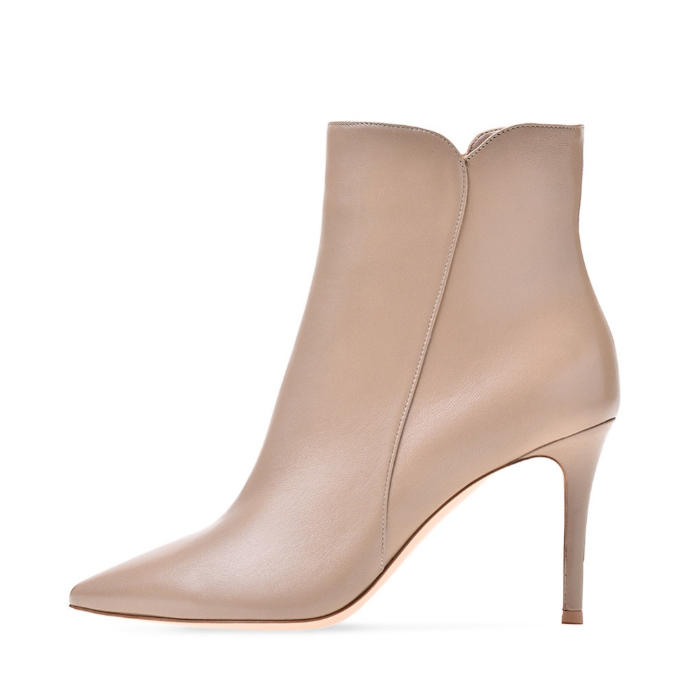 newest beige white leather 2018 autumn winter boots women sexy pointed toe western boots cowboy boots women high heel ankle boot цена 2017
