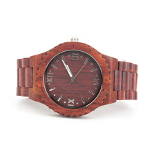Natural wood handmade unisex Casual Watch dark tree brown Wooden Vegan Quartz Wrist  watch Japanese movement WA-73-HS-W5608