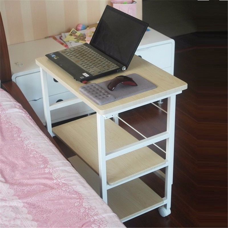BSDT Yu furniture notebook comter desk, bedside table desk can be folded 3  layer with automatic lock FREE SHIPPING - Bedside Computer Table Promotion-Shop For Promotional Bedside