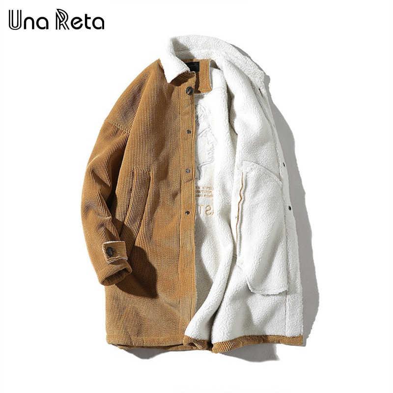 Una reta Chaqueta larga de invierno abrigos para hombre nueva chaqueta Parka Casual para hombre de talla grande 4XL chaqueta gruesa de pana caliente abrigos para hombre
