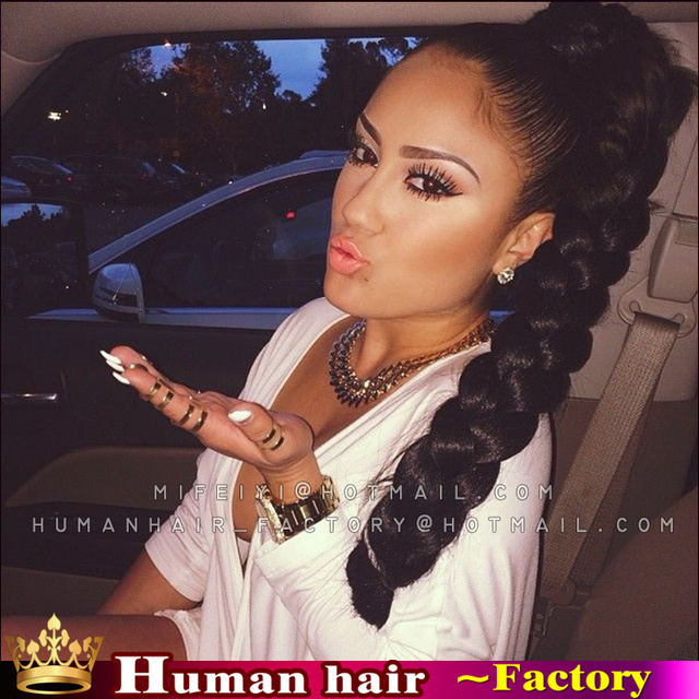 Claw Clip Braids Ponytails Crochet Braiding Hair Big Ponytail For