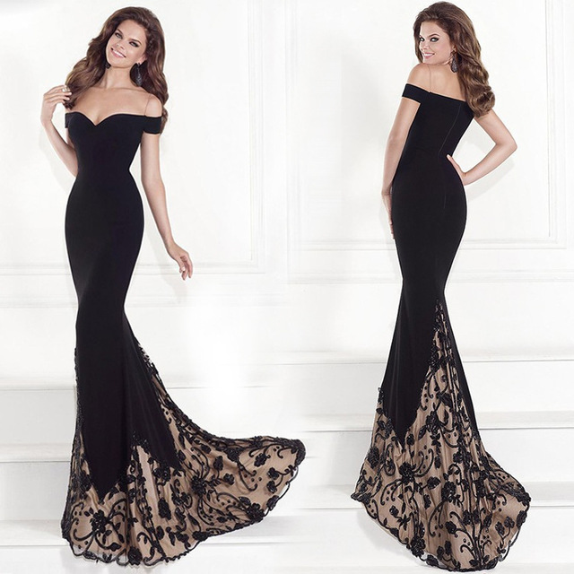Empire Taffeta Mermaid Elegant Long Evening Gown Dresses Dress Hot Sale  Vintage Sweetheart Sexy Lady Foor-length Nigerian Lace 9c6ee6c0508a