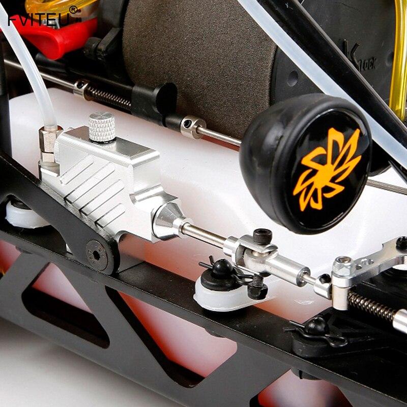 Jeu de freins à disque hydrauliques FVITEU pour roue avant pour moteur Rovan King 1/5 HPI Baja 5B SS - 4