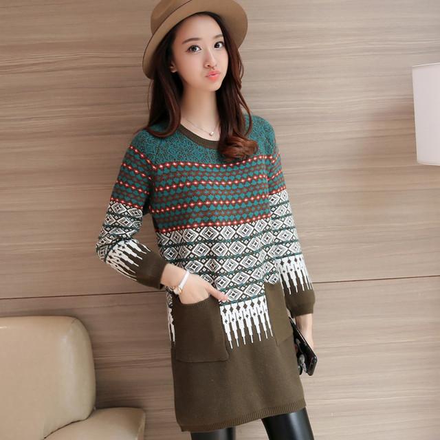 4176-2016 Corea del otoño nuevas mujeres suéter 63