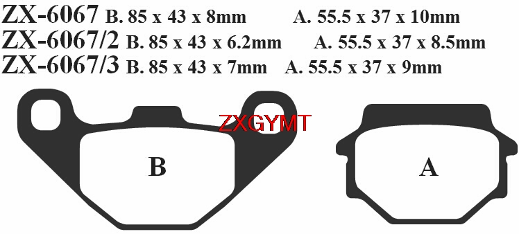 Front Rear Brake Pads for Kawasaki ZR400 ZR 400 D Xanthus