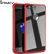 IPAKY Shockproof Transparent 360 Full Cover Protection For iPhone 7 Case Original Fashion for 8 Plus 5.5 inch