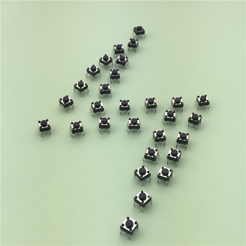 купить 50pcs/lot 6x6x4.3MM 4PIN G89 Tactile Tact Push Button Micro Switch Direct Plug-in Self-reset DIP Top Copper Free Shipping по цене 48.28 рублей