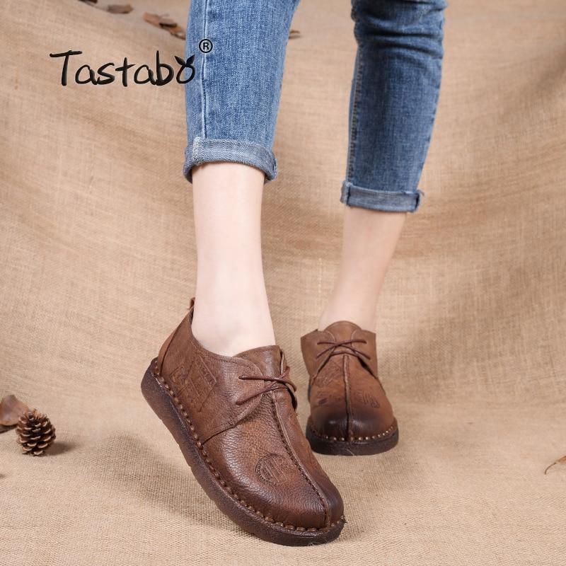 Tastaboобувь из натуральной кожи на плоской подошве для беременных женщин обувь для вождения женская обувь женские мокасины на плоской подошве обувь ручной работы купить на AliExpress