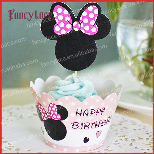 Minnie Mickey Mouse Cupcake Wrappers Birthday Party For Baby