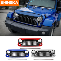 SHINEKA Updated Black White Red Blue Colorful ABS Plastic Bird Grille For Wrangler JK 07 16